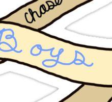 Girls Chase Boys Ribbon Sticker