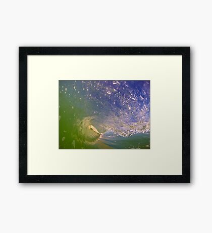 French Wave Framed Print