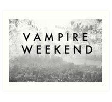 Vampire Weekend Poster Art Print
