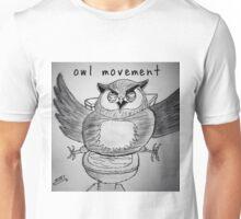"PUN COMIC - ""OWL MOVEMENT"" Unisex T-Shirt"