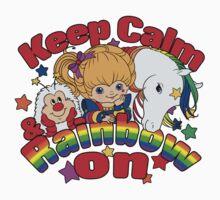 Keep Calm & Rainbow On (Light) Kids Tee