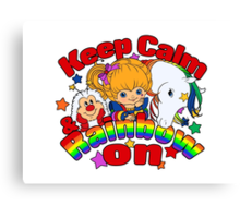 Keep Calm & Rainbow On (Light) Canvas Print