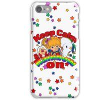 Keep Calm & Rainbow On (Light) iPhone Case/Skin