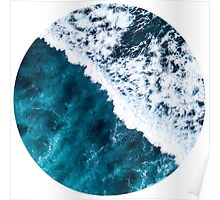 Aerial Wave Circle Poster