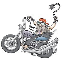 Biker Dude by MacKaycartoons