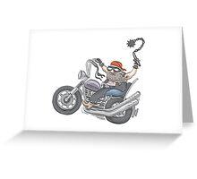 Biker Dude Greeting Card