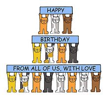 Happy Birthday from all of us, cats. by KateTaylor
