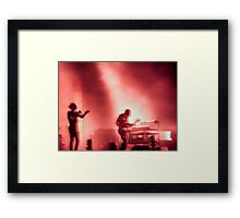Thom and Jonny from Radiohead playing Lollapalooza Framed Print