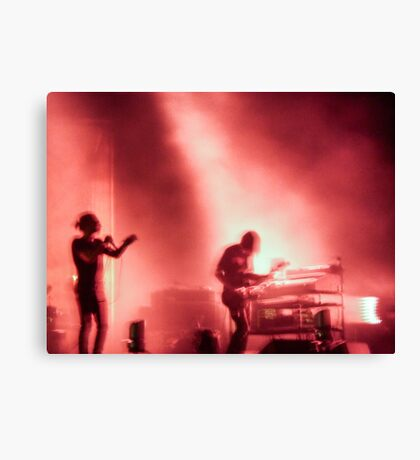 Thom and Jonny from Radiohead playing Lollapalooza Canvas Print