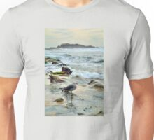 Seagull Wading In The Tidepools At Laguna Beach California Unisex T-Shirt
