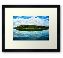 Cant Hill reflection Framed Print