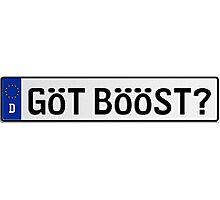Euro Plate - GOT BOOST? Photographic Print