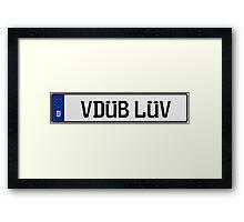 Euro Plate - VDUB LUV Framed Print