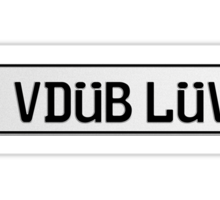 Euro Plate - VDUB LUV Sticker