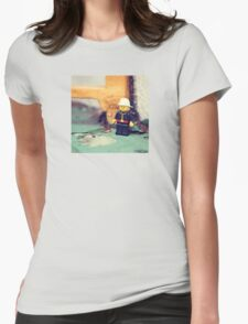 ::: { THE FIREMAN } ::: Womens Fitted T-Shirt