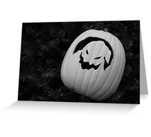 BW Halloween Greeting Card