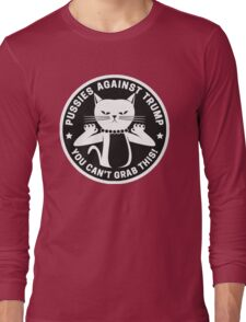 Pussies Against Trump Black Long Sleeve T-Shirt