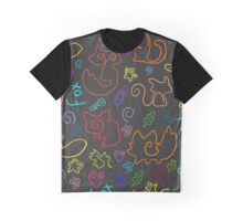 Doodle seamless pattern Back to school Graphic T-Shirt