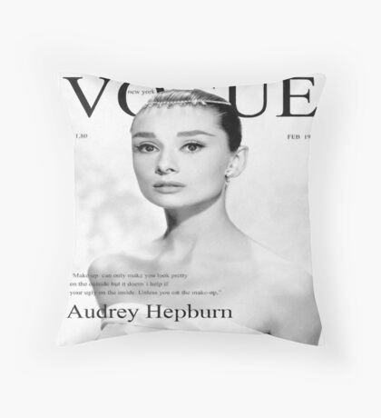 Audrey Hepburn for VOGUE Throw Pillow