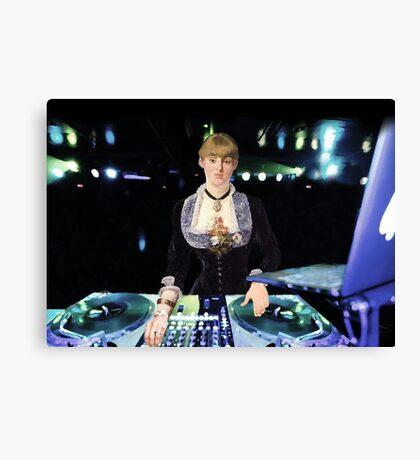 A DJ at the Folies-Bergère Canvas Print