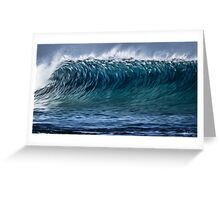 Wave rush Greeting Card