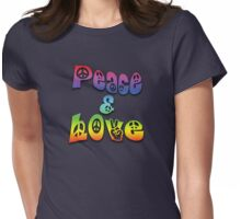 Peace & Love Womens Fitted T-Shirt
