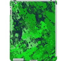 Abstract Earth - textured, blue and green, painting iPad Case/Skin