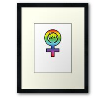 Women's Power / Feminist Symbol 3 Rainbow Framed Print