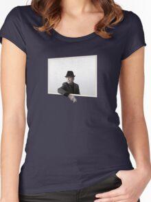 Leonard Cohen You Want It Darker Merchandise Women's Fitted Scoop T-Shirt