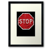 Stop the War on Women Framed Print