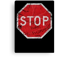 Stop the War on Women Canvas Print