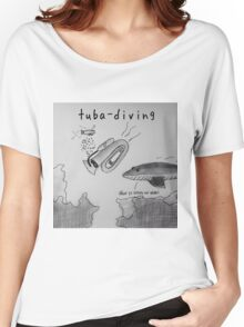 "PUN COMIC - ""TUBA DIVING"" Women's Relaxed Fit T-Shirt"