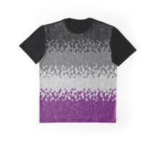 Asexual Geometric Triangles Flag Graphic T-Shirt