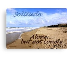 I Have a Need for Solitude Canvas Print
