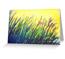 Button Grass Greeting Card