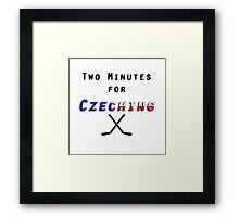 Two Minutes for Czeching Framed Print