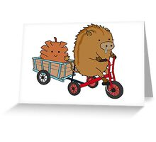 Boar and Pine Cone Greeting Card