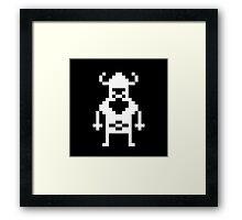 Pixel Viking Framed Print