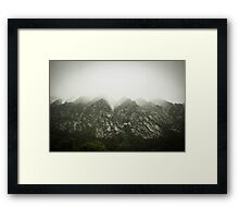 The Tip of the Mountian  Framed Print