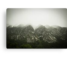 The Tip of the Mountian  Canvas Print