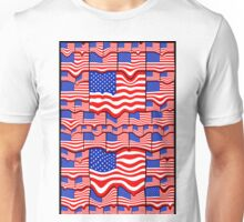 Soft American Flags 2 Unisex T-Shirt