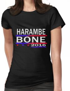 HARAMBE AND KEN BONE 2016 Womens Fitted T-Shirt