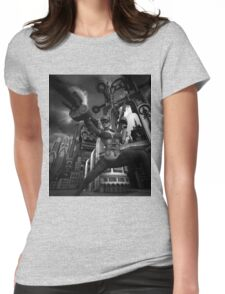 Steampunk Ursula BW Womens Fitted T-Shirt