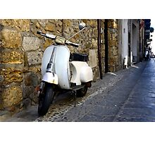 Vespa in Sicily, Italy Photographic Print