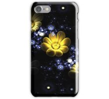 Abstract 3d flowers among the stars in space iPhone Case/Skin