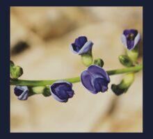 Purple Bloom - African Wild Flowers Kids Tee