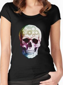 Thinking Skull. Women's Fitted Scoop T-Shirt