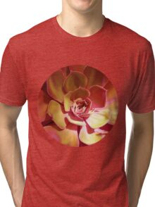 SUN SUCCULENT ( GOLDEN ) Tri-blend T-Shirt