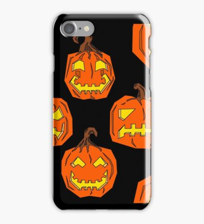 jack o lantern pattern iPhone Case/Skin