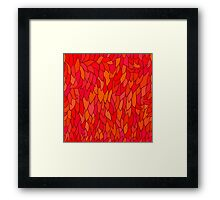 seamless pattern with autumn leaves in orange tones Framed Print